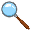 Vector Cartoon Color Flat Icon - Magnifying Glass